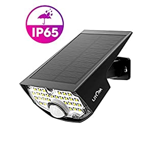 Mpow Solar Light Outdoor, Motion Sensor 30-LED Light with 19.5% High-efficient Solar Panel, IP65 Waterproof, PIR Motion…