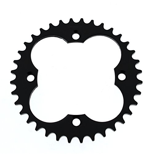 Race Driven 36 Tooth Rear Black Sprocket 520 Pitch for Honda TRX 250 250R 250X 300 300EX 400 400EX 400X 450 450R ()