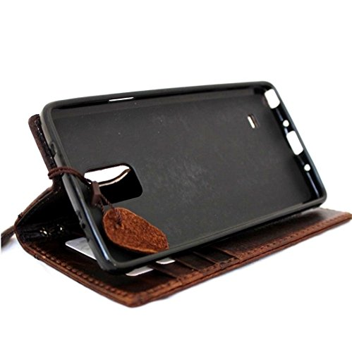 Genuine Leather Case Fit Samsung Galaxy Note 3 Book Wallet Handmade cover slim brown thin Free Shipping daviscase by SHOP-LEATHER (Image #2)