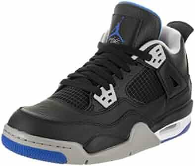 711a4bf23d1c41 Jordan Nike Kids Air 4 Retro BG Basketball Shoe