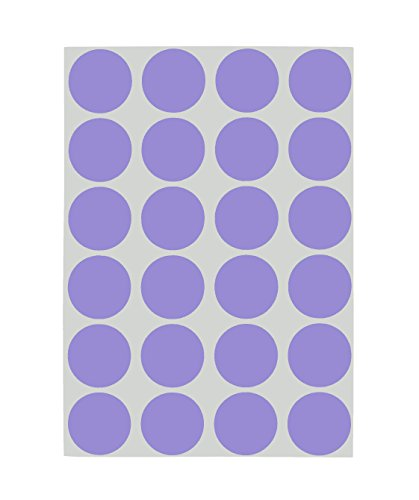 - ChromaLabel 3/4 inch Removable Color-Code Dot Labels on Sheets | 1,008/Pack (Lavender)
