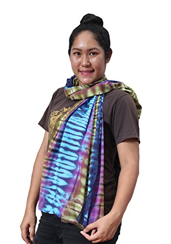 Siam2u Wrap Tie dye Cotton Scarf Christmas Gifts For Her For Women(S 21) (Tie Dye Beaded Curtain compare prices)
