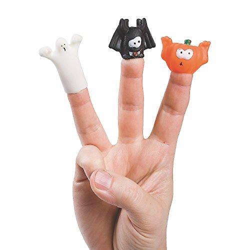 Fun Express - Halloween Finger Puppets (6dz) for Halloween - Toys - Character Toys - Finger Puppets - Halloween - 72 Pieces