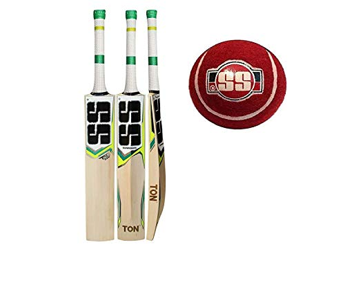 SS T20 Storm Kashmir Willow Cricket Bat with Tennis Cricket Ball and Bat Face Tape (Bat Cover Included) : 2019 Edition (T20 Storm) (Best Cricket Bats 2019)