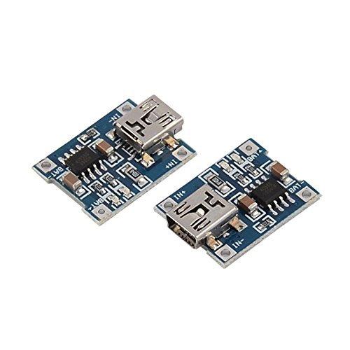 eDealMax Mini USB de 5 pines hembra de iones de litio Li-ion ...
