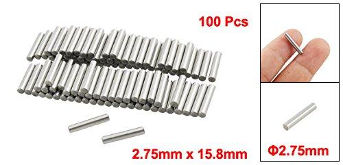 100 Pcs Stainless Steel 2.75mm x 15.8mm Dowel Pins Fasten Elements