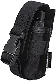 OneTigris Tactical MOLLE Flashlight Holster Belt Tool Pouch 1000D Nylon LED Bag Torch Holder for Camping Hikin