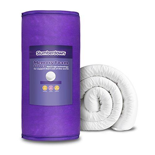 Slumberdown Memory Foam Mattress Topper, White, King Size