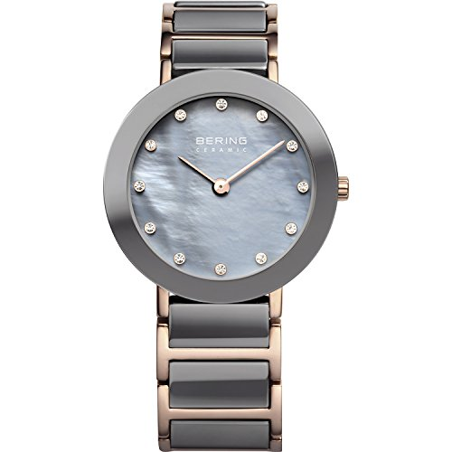 BERING Time 11429-769 Womens Ceramic Collection Watch with Stainless steel Band and scratch resistant sapphire crystal. Designed in Denmark.
