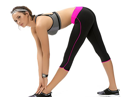 rojo negro mujer Leggings X para Large capri rosa deportivos Abusa Multicolor S8qaZ8