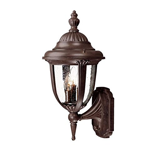 Acclaim 3521BW Monterey Collection 3-Light Wall Mount Outdoor Light Fixture, Burled Walnut