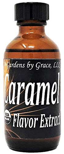 Organic Flavor Extract Caramel | Use in Gourmet Snacks, Candy, Beverages, Baking, Ice Cream, Frosting, Syrup and More | GMO-Free, Vegan, Gluten-Free, 2 oz