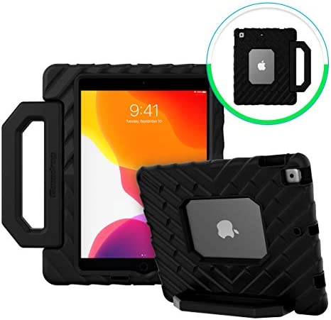 GumDrop FoamTech Case Designed for The New Apple iPad 10.2 7th Gen (2019) Tablet Commercial Business and Office Essentials- Black Rugged Shock Absorbing Extreme Drop Protection