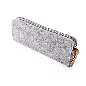 Light Grey Felt Pen Pencil Case Stationery Pouch Bag Case Cosmetic Bag Square 2946TT