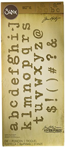 (Sizzix Ellison Typo Lower Bigz Alphabet Die by Tim Holtz, X-Large)