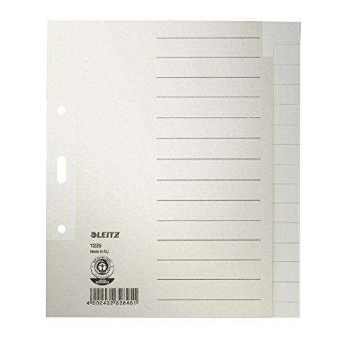 Esselte Leitz Papierregister Blanko, A5, Papier, 15 Blatt, grau 12250085