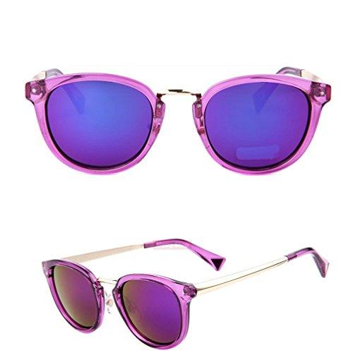 2015 New Brand Designer Fashion Women Purple Mirroed Sunglasses Women Dazzle Colour Frame Mirror Lens Cat Eye Sunglasses - Sunglasses Mirroed