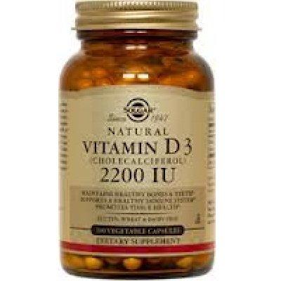 Solgar Vitamin D3 (Cholecalciferol) 2,200 IU Vegetable Capsules