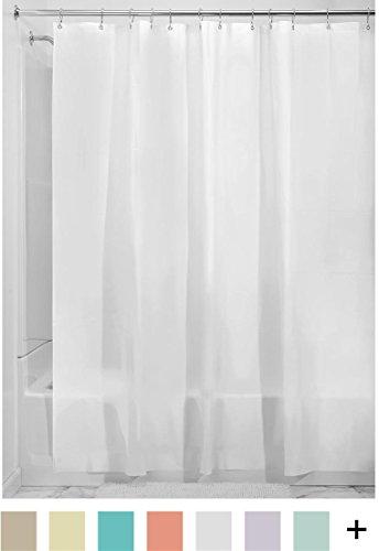 InterDesign Mildew-Free EVA 5.5 Gauge Shower Liner, 72 x 72, Frost