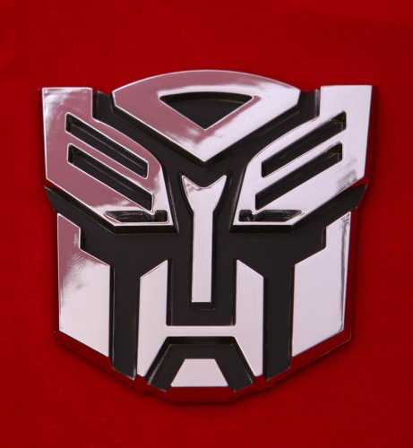 Transformers Autobot Car Chrome Badge Emblem 3d Logo - Autobot Car Badge