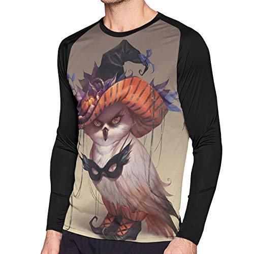 Men's Sweatshirt Halloween Owl Masks Long Sleeve T Shirt 3D Print Casual Graphic Tee Shirt For Men