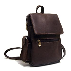 Le Donne Leather Distressed Leather Womens Backpack/Purse,One Size,Tan