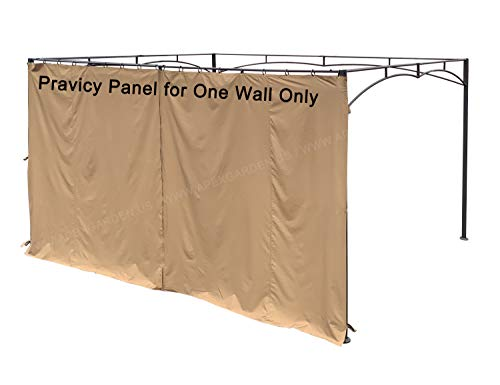 Pergola Wall Panels - APEX GARDEN Universal 14-ft Privacy Panel Curtain/Side Wall Sunshade (One Side Only) (14 Ft, 168