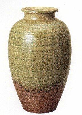 信楽焼きビードロ松皮壺型花瓶7025-01 B00IQ48A9A