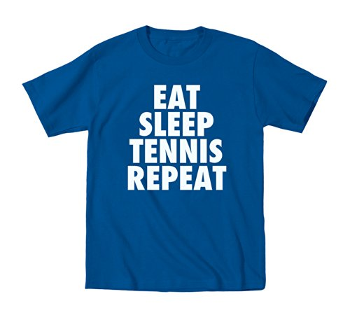 Instant Message Eat Sleep Tennis Repeat-TODDLER SHORT SLEEVE TEE-4T Royal Blue