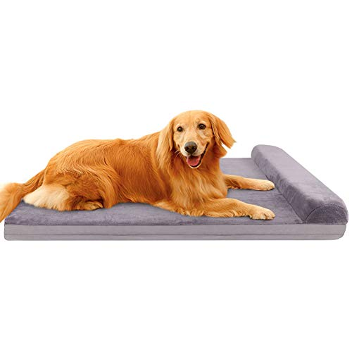 JoicyCo Dog Bed Crate Mat Dog Beds for Large Dogs Pet Beds Furniture Foam Cushion Sofa Anti-Slip Bottom Mattress with Washable Cover