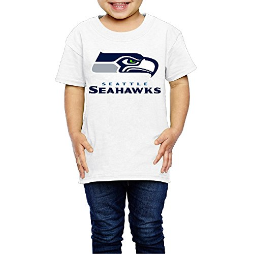 AK79 Children 2-6 Years Old Boys And Girls Seattle Logo Seahawks Tee White Size 4 Toddler]()