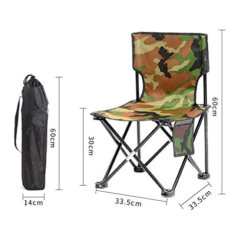 LUHEN Outdoor Convenient Folding Chair, Sturdy and Convenient Rust-Proof Folding Stool (Size: 30 34 60cm) (Color : Camouflage) ()