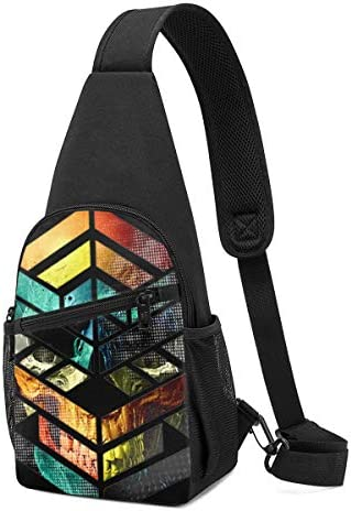 ボディ肩掛け 斜め掛け 幾何学 ロゴ ショルダーバッグ ワンショルダーバッグ メンズ 軽量 大容量 多機能レジャーバックパック