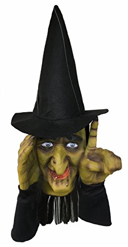Scary Peeper Electronic Tapping Halloween Decoration - Motion Activated Peeping Tom Witch That Looks In And Taps - Easily Attaches To Any Window