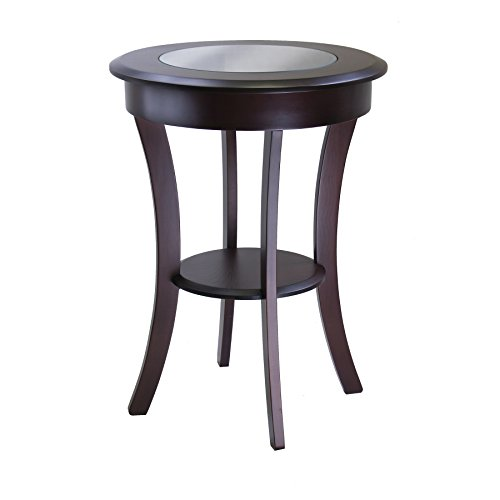 Winsome Wood 40019 Cassie Accent Table, Cappuccino