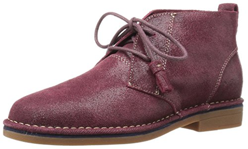 (Hush Puppies Women's Cyra Catelyn Ankle Bootie, Wine Shimmer Suede, 9 M US)