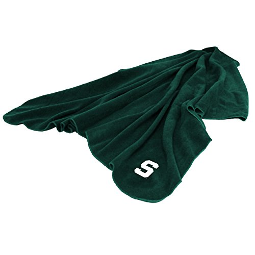 (Logo Brands NCAA Michigan State Spartans Huddle Throw Blanket, Medium, Team Color)