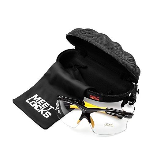 MEETLOCKS Lunettes de soleil photochromiques sport, cadre TR90 avec silicone, lentilles changeantes couleur de haute qualité, pour tous les sports de plein air