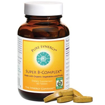 Pure Synergy Organic Super B-Complex 60 Vegetable Tablets by The Synergy Company