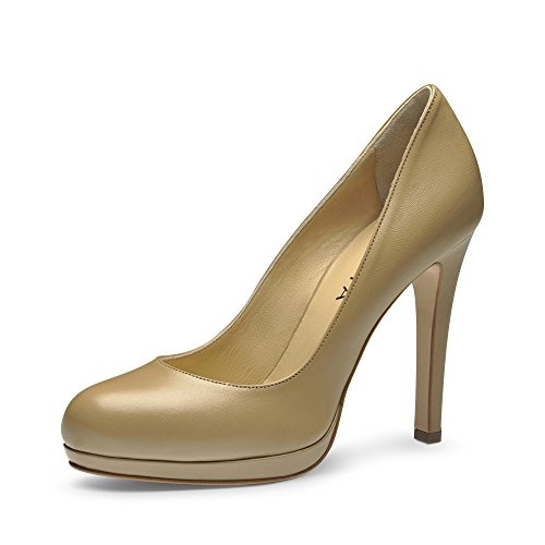 carne Rosa mujer para de Zapatos vestir Evita de Piel Shoes FAqApnB