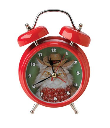 Mark Feldstein Wacky Wakers Cowboy Kitty Alarm Clock