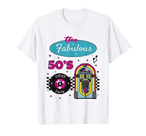 1950s Sock Hop Costume Retro 50s Rockabilly Shirt
