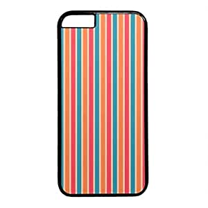 iCustomonline Blue Red Orange Stripe Personalized Protective Hard Case for iPhone 6 Plus Black