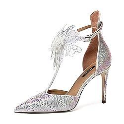 High Heels Stiletto Sandals Pointed With Rhinestone