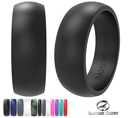 Silicone Wedding Rings Wedding Bands All Sizes for Active Men and Women, Fitness, Engineers, Sports, Weightlifting | Comfortable Fit, Skin Safe, Non-Toxic Soft Rubber Wedding Rings