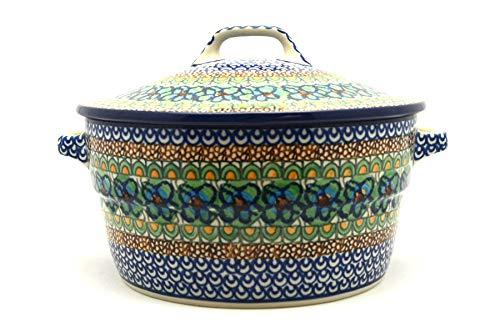 (Polish Pottery Baker - Round Covered Casserole - Unikat Signature -)