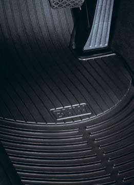 BMW 3 Series (E90, E91, E92, E93) 2006-2011 all-weather rubber floor mats -- FRONT (Bmw Front Floor Mat)