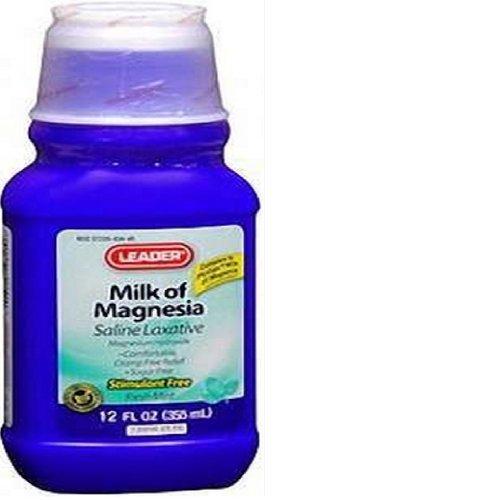 Amazon.com: PH2582484 - Leader Milk of Magnesia Mint Suspension, 12 oz.: Health & Personal Care