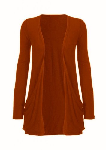 Hot Hanger Ladies Plus tamaño bolsillo largo manga chaqueta 16–�?6 Herrumbre
