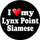 I Love My Lynx Point Siamese Magnet (heart) - Cat